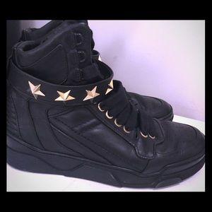 Givenchy Tyson Black Star Studded Leather High Top